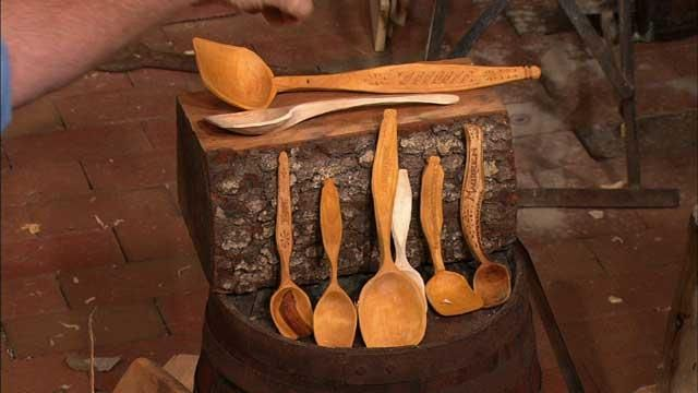 Watch now: The Woodwrights Shop   Carving Swedish Spoons with Peter Follansnbee   PBS Video