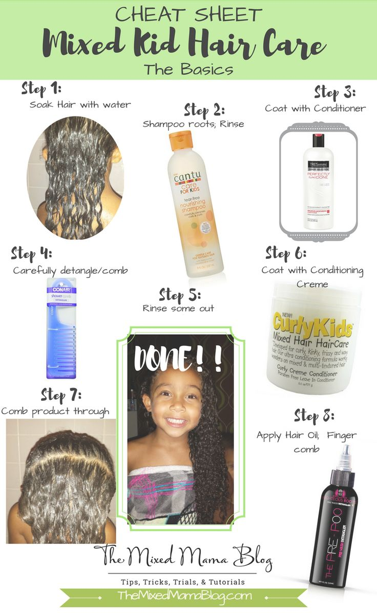 CHEAT SHEET Mixed Kid Hair Care The Basics Penteados