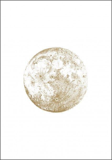 Gold full moon