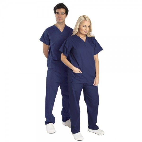 Budget Scrubs Unisex Set in Navy £16.99  #medicalscrubs #nursescrubs  #nurses #bluescrubs #nurseuniform
