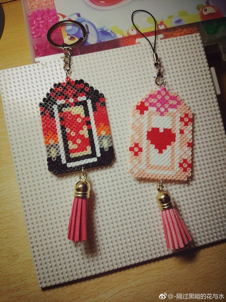 Darling perler bead purse charms!