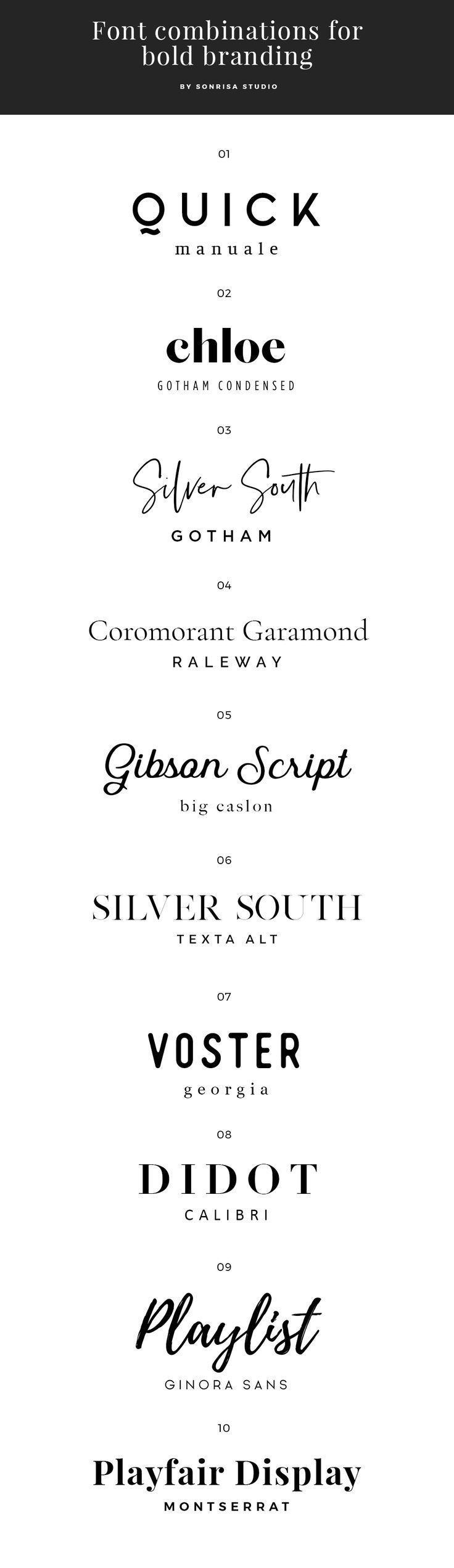Schriftkombinationen für fettgedrucktes Branding