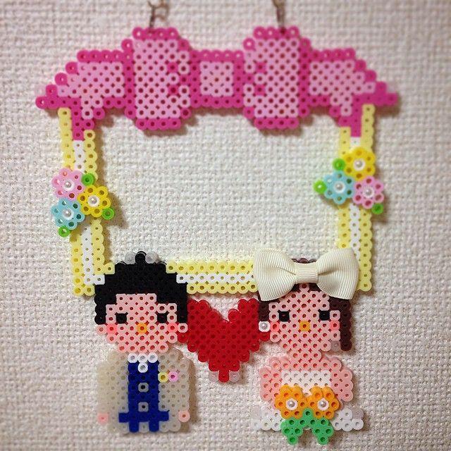 Frame wedding perler beads by ringo_0122