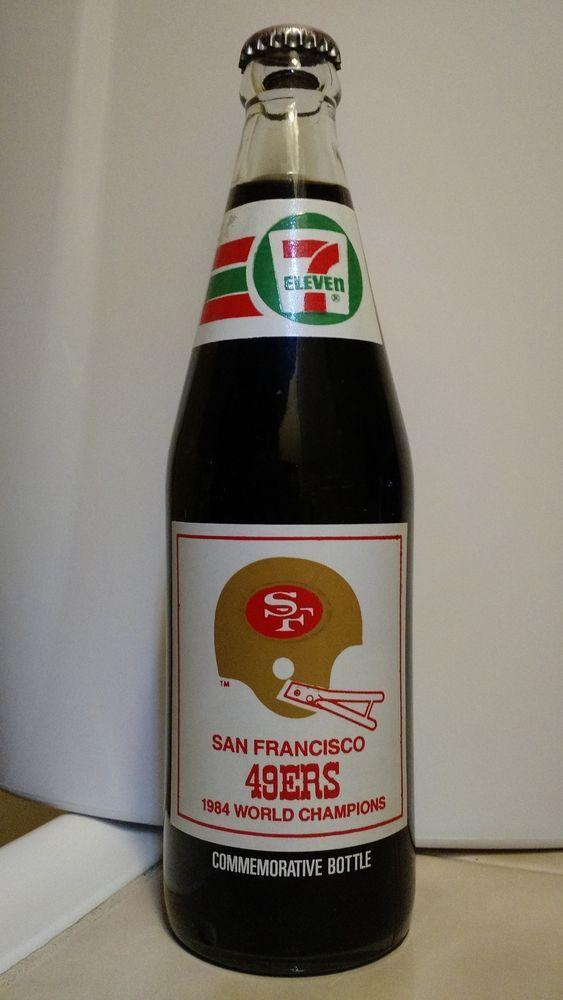 coca-cola 1984 super bowl xix san francisco 49ers 7-eleven bottle unopened from $19.99