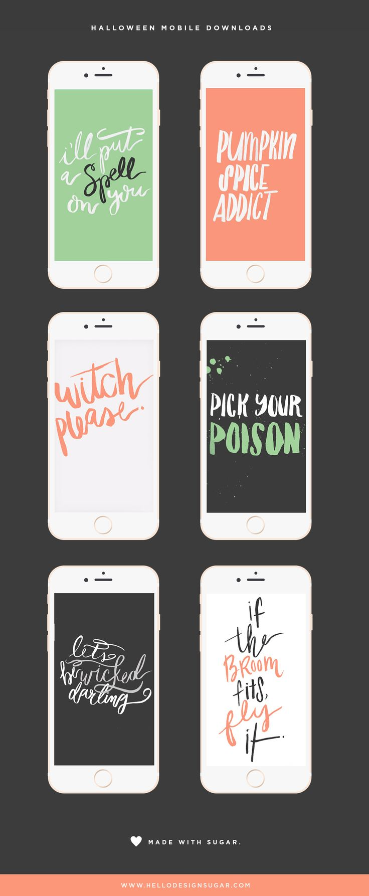 It's Friday Freebie time! Enjoy six quirky 'not just for Halloween' mobile wallpaper downloads!