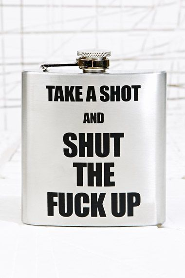 Take A Shot Hip Flask at Urban Outfitters