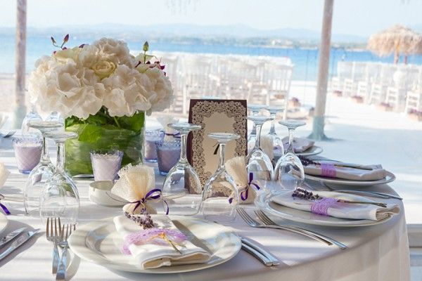 Spetses Island Destination Wedding in Purple
