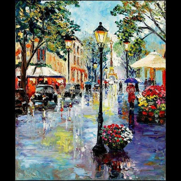 paris in the rain art | Art rain umbrellas online shopping-the world largest art rain ...
