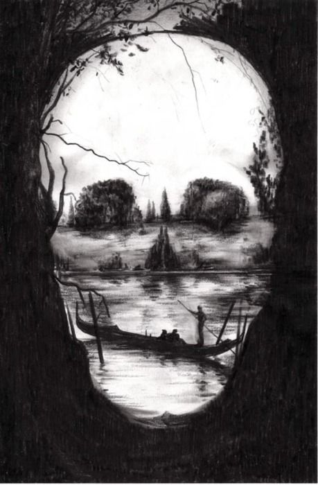 as seen through the trees