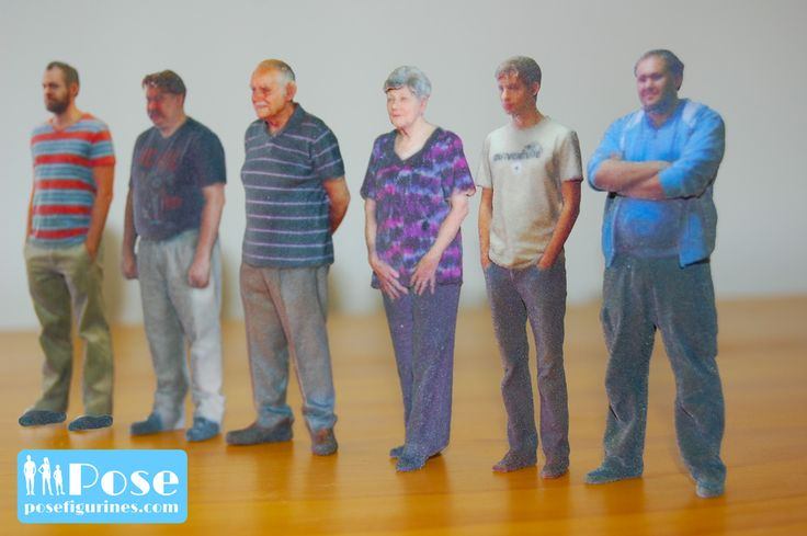 Pose 3D Figurines, amazing from every angle, front, back and sides!