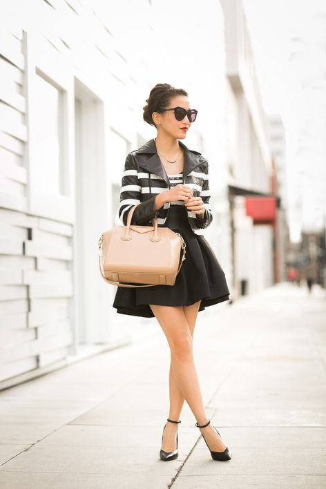 Double :: Striped jacket & Sequin stripes : Wendy's Lookbook