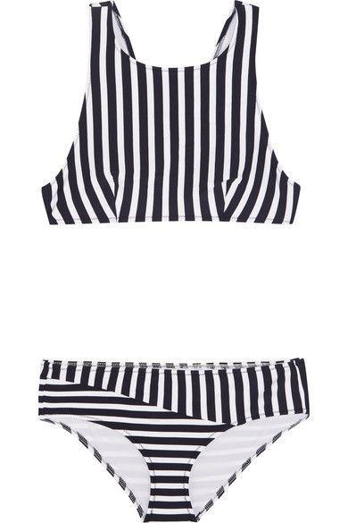 ARAKS Joy Millie Racer-Back Striped Bikini. #araks #cloth #beachwear