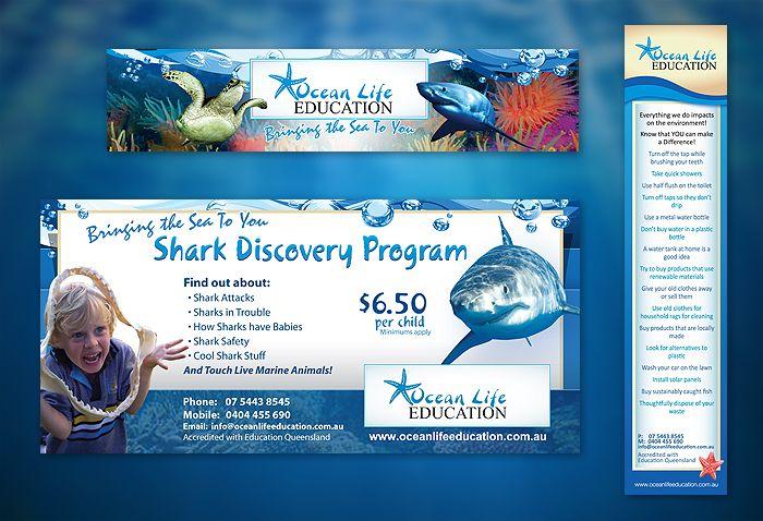Marine Education Flyer & Bookmark Design