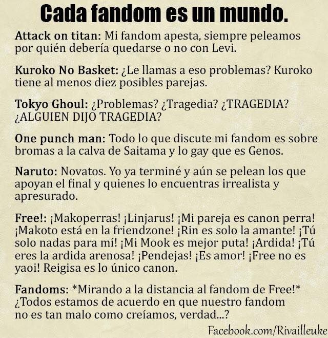 #Fanfics #Fandom #WeLoveFanfics #AttackOnTitan #KuronoNoBasket #TokyoGhoul #OnePunchMan #Naruto #NarutoShippuden #Free