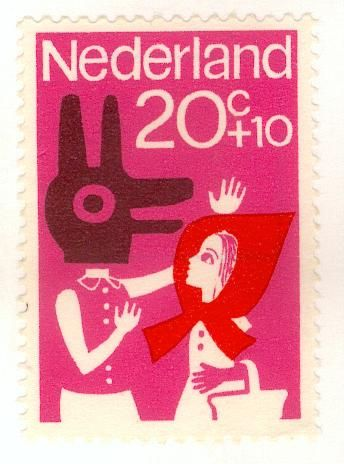 Stamp, Nederland  - Little Red Riding Hood