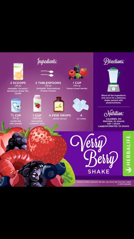 Very Berry Herbalife shake recipe