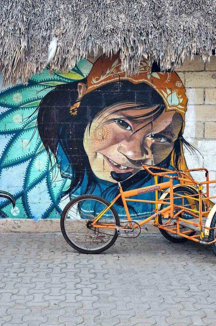 Street art in Tulum, Mexico | heneedsfood.com