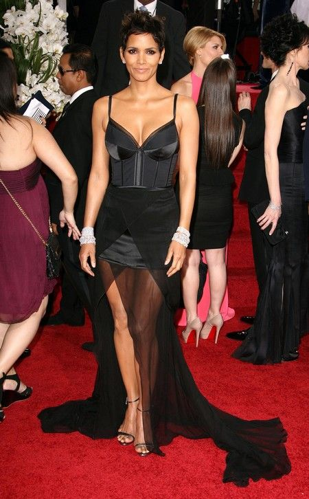 Halle Berry rocked her lingerie-inspired black dress by Nina Ricci!
