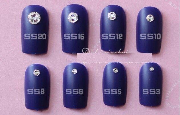 ( Ss3 / ss4 / ss5 / ss6 / ss8 / ss10 / ) небольшой размер ногтей стразами кристально чистый Flatback без исправление горный хрусталь без клея NRS01купить в магазине Sara Nail Art Products WholesaleнаAliExpress