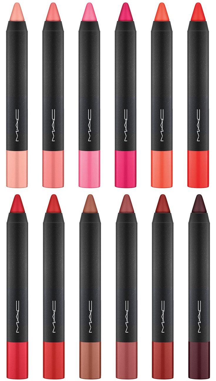 MAC Velvetease Lip Pencils for December 2015- velvet teen/just add romance