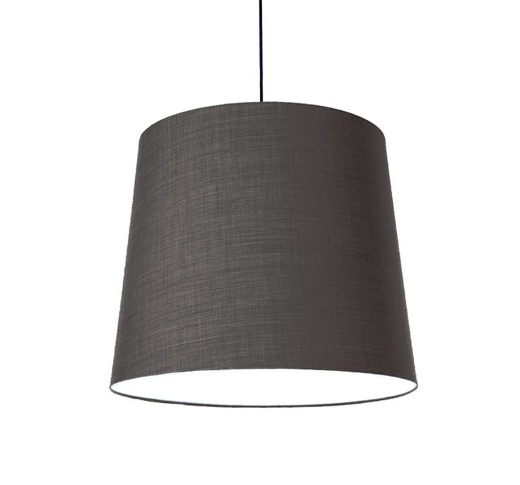KongFAB acoustic textile pendant with Remix 2 from Kvadrat - saltnpepper 152