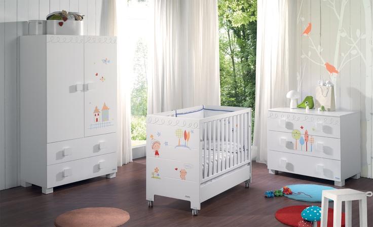 39 mejores im genes sobre habitaciones beb s en pinterest for Vinilos muebles infantiles