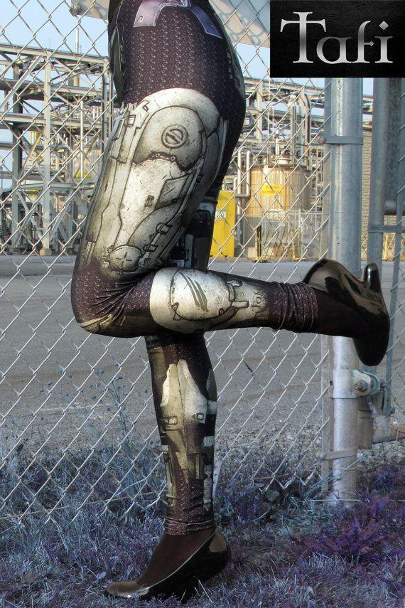 NEW TAFI Halo Spartan Leggings  Sci-Fi Body Armor by ToyAndFashion