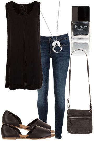 Black Rose Outfit includes Butter London, Mavi, and Threadz - Birdsnest Buy Online