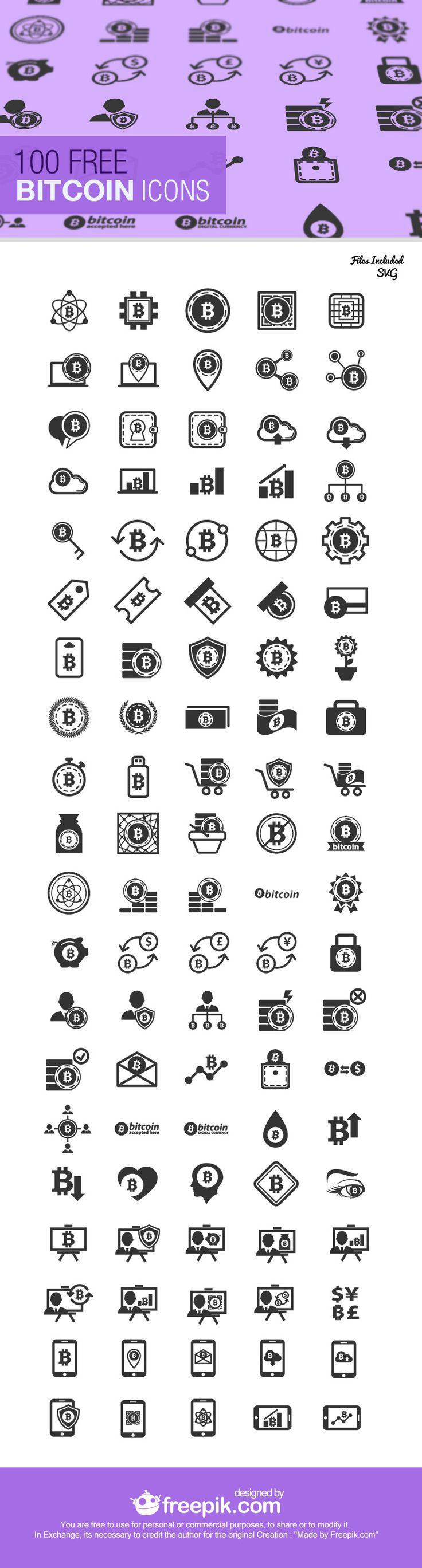 Freebie: The Bitcoin Icon Set (100 Icons, SVG