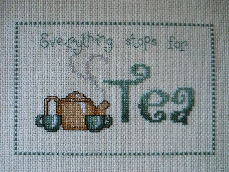 - Tangled Threads -: Everything stops for tea........free chart!