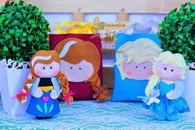 Girassóis Mágicos: Lembranças Frozen - Bonequinhas Anna e Elza