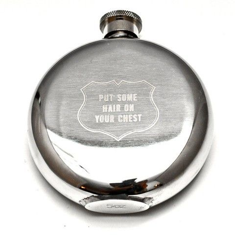 Hairy Chest Hip Flask - JOY - For the Groom & Best Man