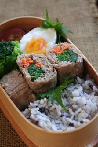 2013.04.12 ほうれん草のミートローフ弁当 Spinach Meatloaf Bento @Tomoko Niwa