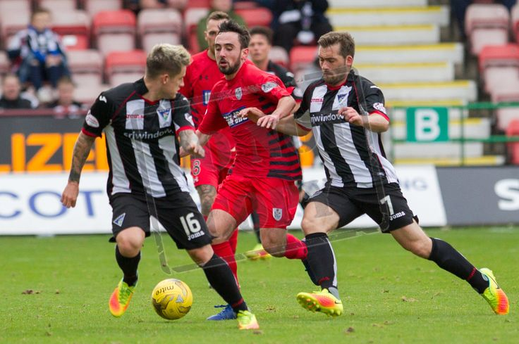Queen's Park's Anton Brady in action during the IRN-BRU Cup game between Dunfermline Athletic and Queen's Park.