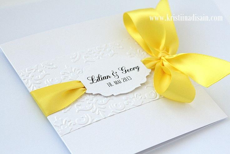 yellow and white invitation