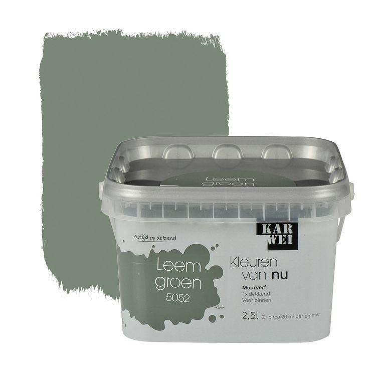 KARWEI Kleuren van Nu muurverf mat leemgroen 2,5 l