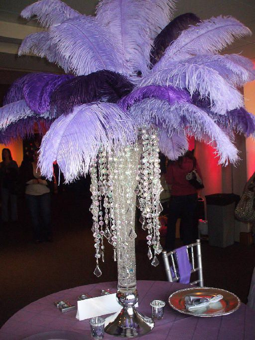 purple and black and platinum centerpieces   Centerpiece done by Pure Dymonds Events. Lavender and Dark Purple ...