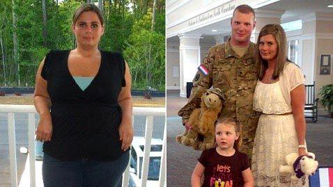 (1) Hollywood Exclusive: Sotilaan vaimo yllättää 43,5 kg:n painonpudotuksellaan aviomiehensä, joka palaa taistelemasta ISIS:tä vastaan...