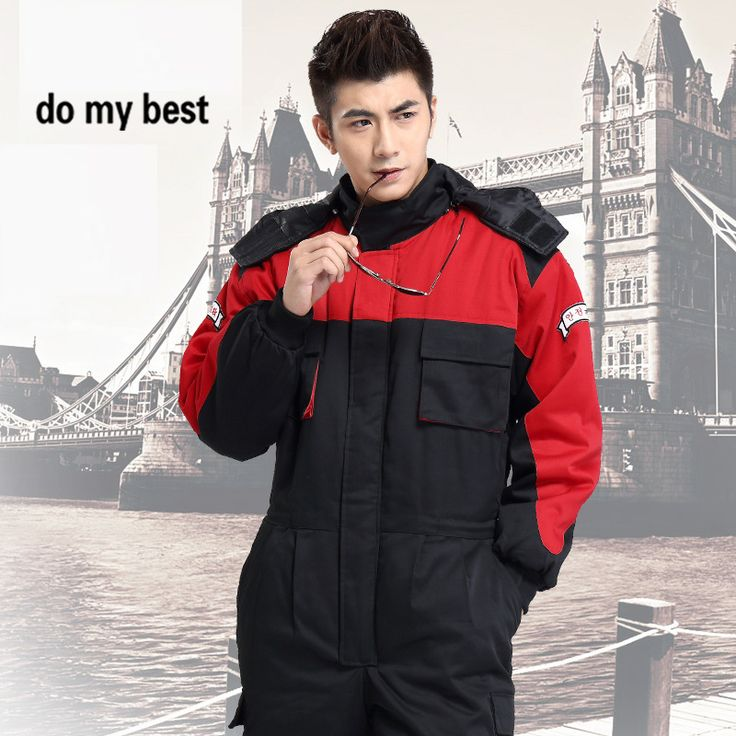 Thicken Warm Cotton Work Coveralls for Unisex Adult in Cold Season, Fashion Workwear Uniform,Factory Uniform, Free Shipping