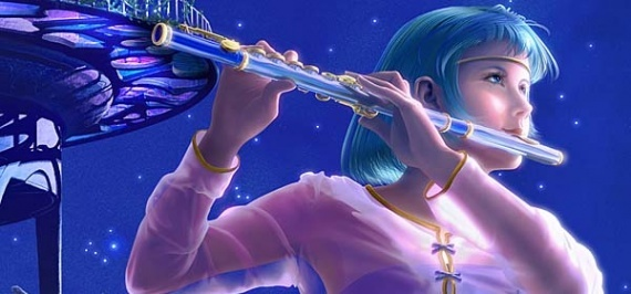 she's good at playing the flute..