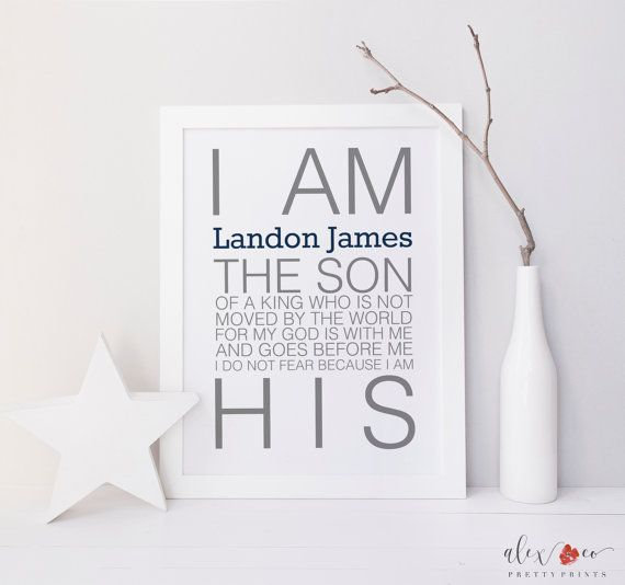 Personalized Baptism Printable. Baby Boy by alexandcoprintables