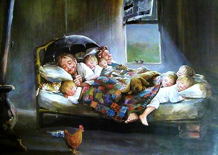 Dianne Dengel Quot Home Sweet Home Quot Painting Of Happy Family