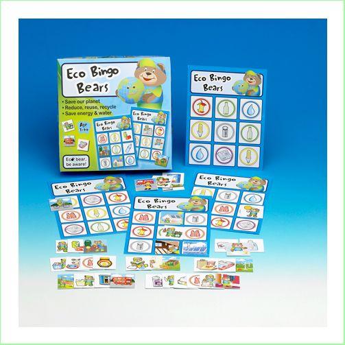 Eco Bingo Bears Kids Game Teach Reduce Reuse Recycle  From Green Ant Toys www.greenanttoys.com.au http://www.greenanttoys.com.au/shop-online/games/eco-game-bingo-bears/
