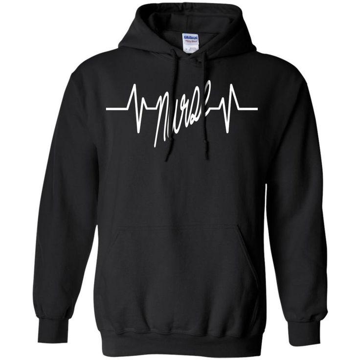 Nurse Heartbeat  Hoodie 8 oz