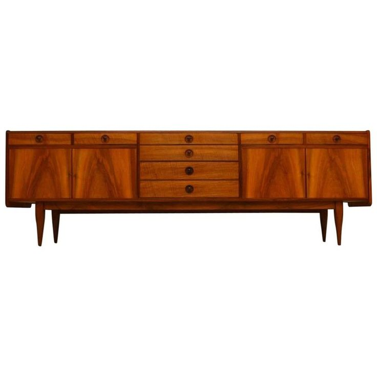 1960s Walnut Sideboard by Robert Heritage for Archie Shine | From a unique collection of antique and modern sideboards at https://www.1stdibs.com/furniture/storage-case-pieces/sideboards/