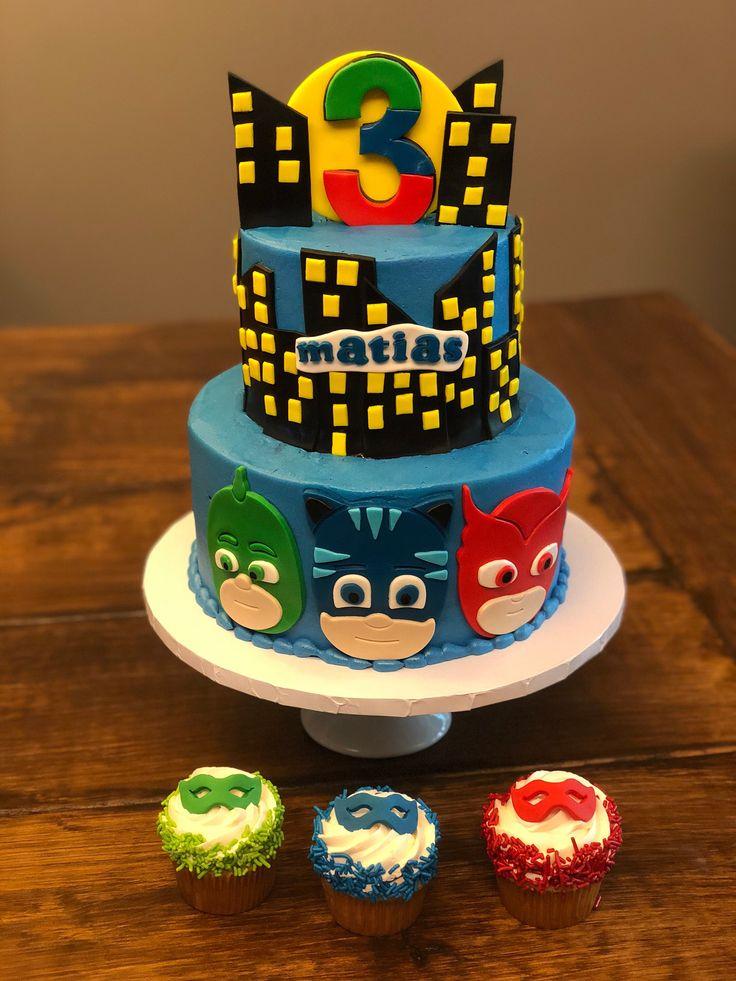 pinmarina steinberg on superhero cake  pj masks cake