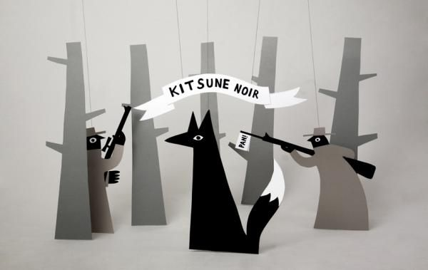 Jean Jullien's online portfolio: kitsune noir