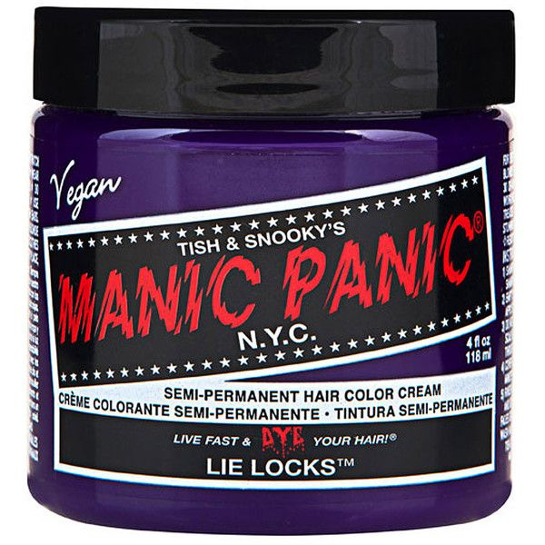 Manic Panic Lie Locks hair dye, temporary hair dye, Manic Panic UK ($9.74) ❤ liked on Polyvore featuring beauty products, haircare, hair color, hair, hair dye, fillers, makeup and manic panic