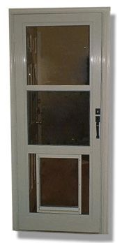 1000 ideas about storm doors on pinterest wood screen - Interior door with pet door installed ...