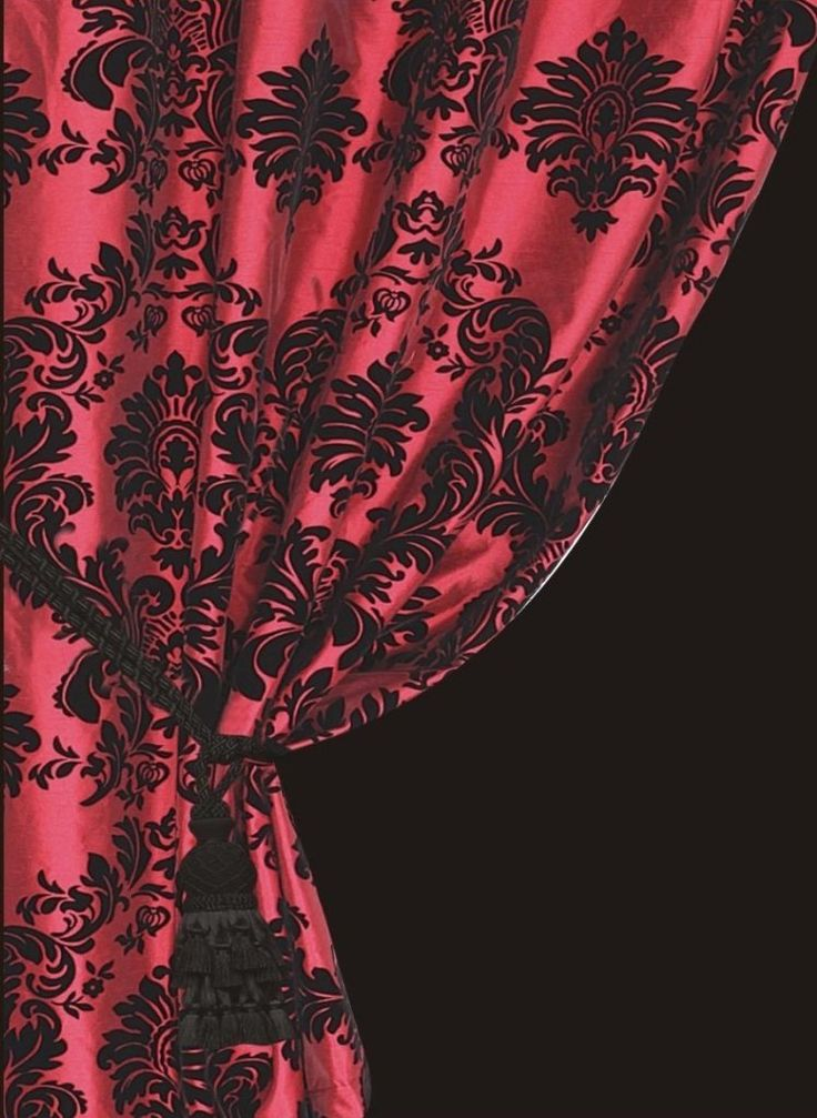 damask curtains for living room